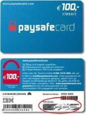 De kaart van PaySafe